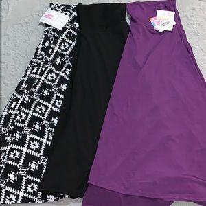 Lot of 3 LuLaRoe Azure Knee Length Skirts